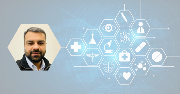 Kunal Gadhvi Profile with Medical Healthcare Concept Background
